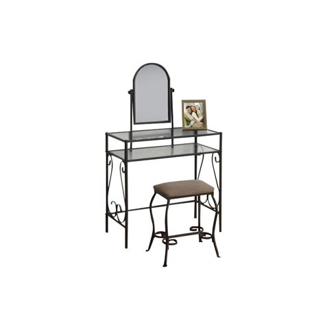 Metal Vanity Sets For Bedrooms by 2 Metal Vanity Set In Brown I 3393