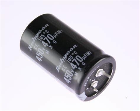 rubycon mxg capacitor 450mxg470msn30x50 rubycon capacitor 470uf 450v aluminum electrolytic snap in 2020057189