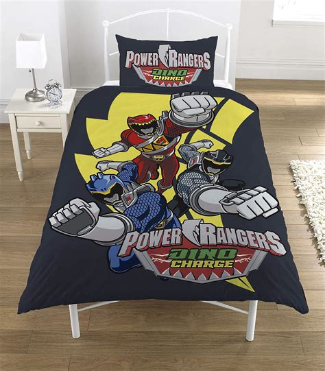 power rangers dino charge single panel duvet quilt cover