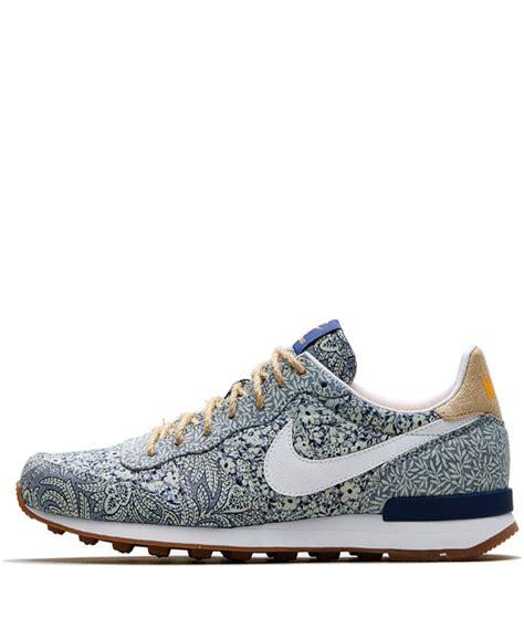 Nike X Liberty nike x liberty blue internationalist trainers shoes by nike x liberty liberty co uk