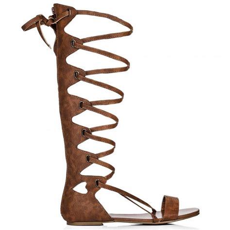 buy tonga flat calf gladiator sandal shoes black leather