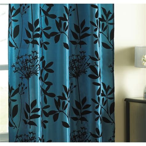 White And Teal Curtains Teal Tab Top Satin Curtain Panel Hd Home Direct Limited