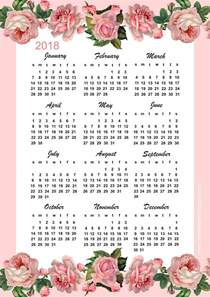 Calendã Escolar 2018 Free Printable 2018 Calendar Year At A Glance