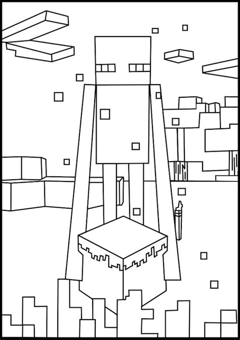 minecraft birthday coloring pages printable minecraft enderman coloring pages elijah