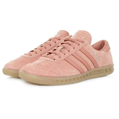 adidas originals hamburg pink suede trainers