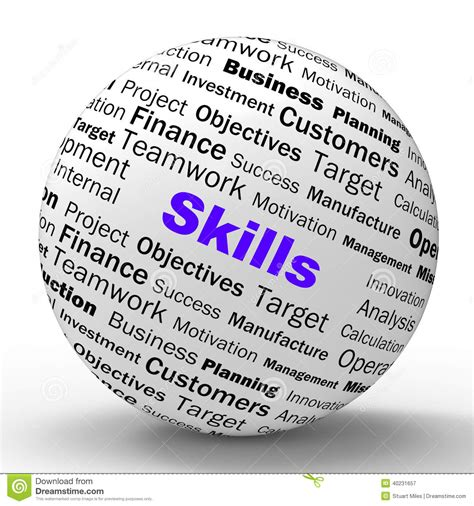 design skills meaning skills sphere definition means special abilities stock