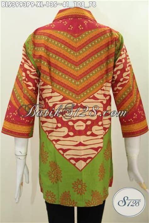 desain baju batik dewasa jual baju blus kerah kotak model terbaru dengan desain