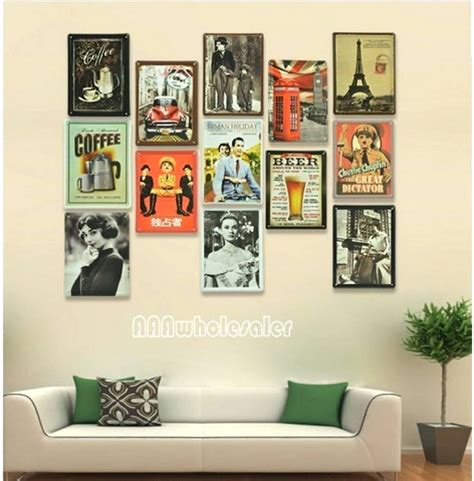 home decor wall posters 20 best ideas of retro metal wall