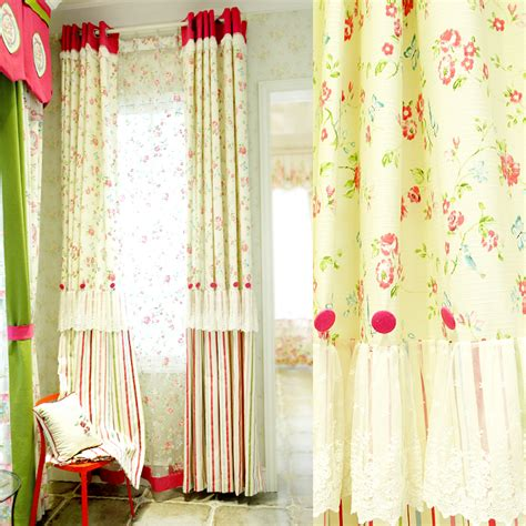 beautiful curtain beige floral striped lace custom breathable beautiful curtains