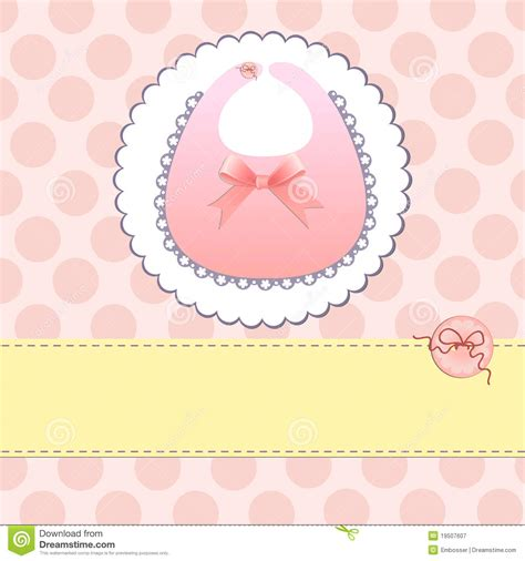 Baby Born Card Template by Template For Baby Card Royalty Free Stock Photography