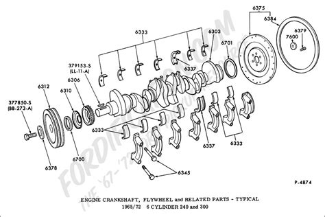 crankshaft parts diagram ford truck technical drawings and schematics section e