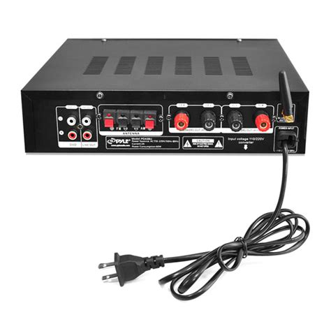 pyle pdabu bluetooth stereo amplifier receiver amfm