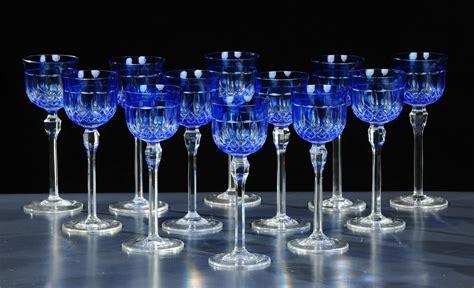 servizio bicchieri cristallo di boemia dodici bicchieri in cristallo di boemia incolore e