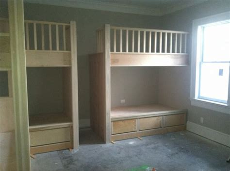 built  twin beds built  bunk beds woodworking