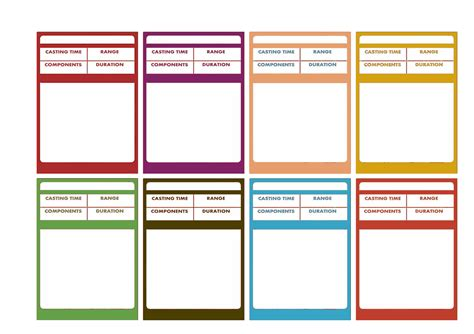 spell cards word template 28 images of dnd 3 5 list template infovia net