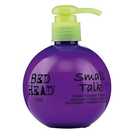 small talk bed head cheveux comme chez mon coiffeur grizette