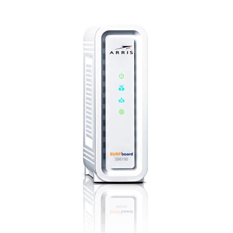 arris surfboard sb6190 lights arris surfboard gigabit docsis 3 0 32 x 8 cable modem
