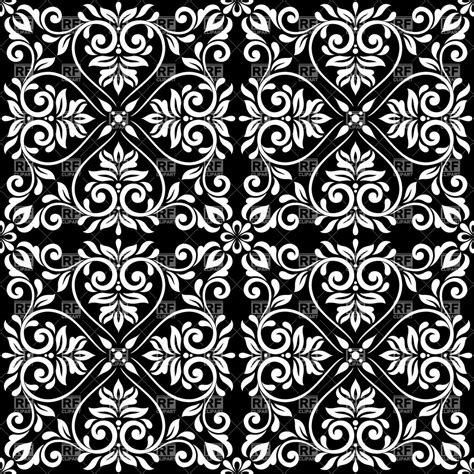 vector background pattern black and white black and white seamless vintage pattern ornamental