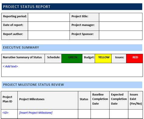 status update template word project status report template word template free download