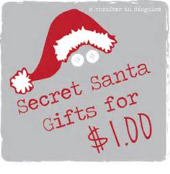 Christmas Gift Ideas For Secret Santa - a thrifter in disguise secret santa saturday gifts for a dollar