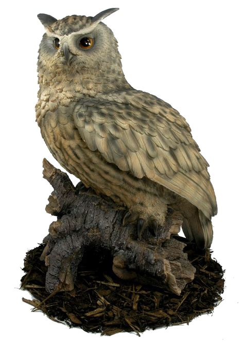 Garden Owls Eagle Owl Resin Garden Ornament 163 127 99 Garden4less
