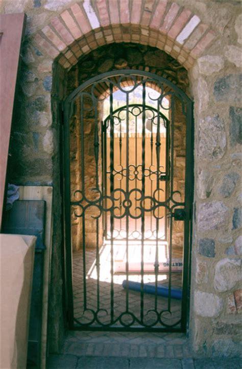 Mediterranean Home Decor Accents wrought iron walk gate