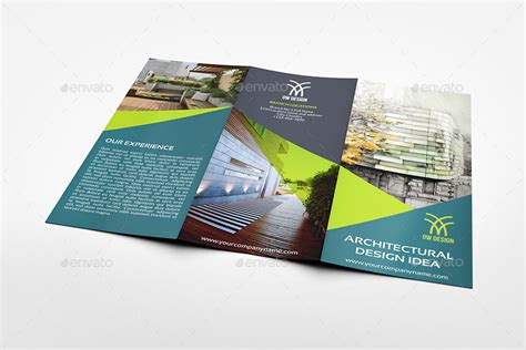 architectural design tri fold brochure template by