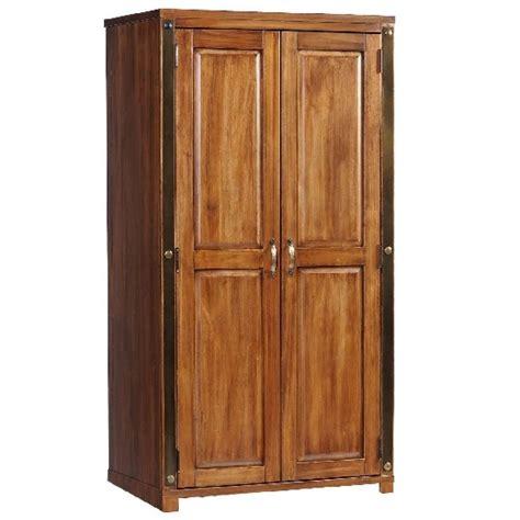 javelin wardrobe in antique brown pine with 2 doors buy