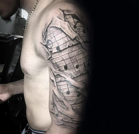 music tattoo designs for guys 60 sleeve tattoos for lyrical ink design ideas