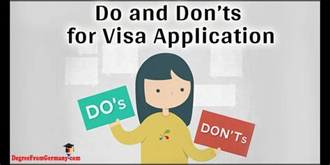 Mba Essay Dos And Donts by Do And Don Ts For Visa Application Requirements When