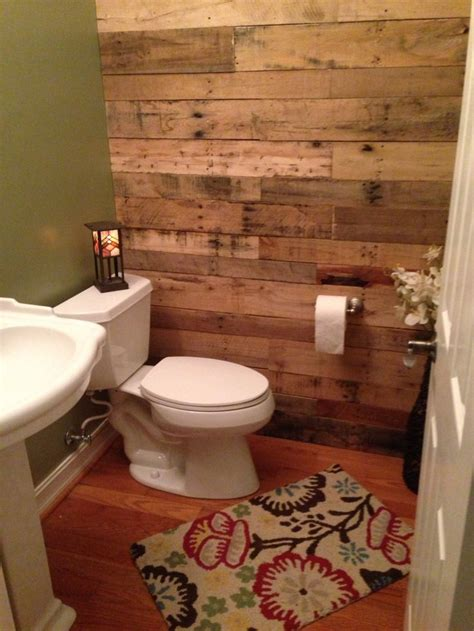 Pallet Wall Bathroom My New Bathroom Loving The Pallet Wall Bathroomdecor Bathroomideas Pallet Bathroom Walls