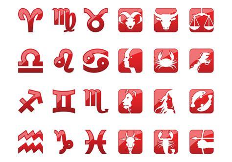 shiny zodiac icons   vector art stock