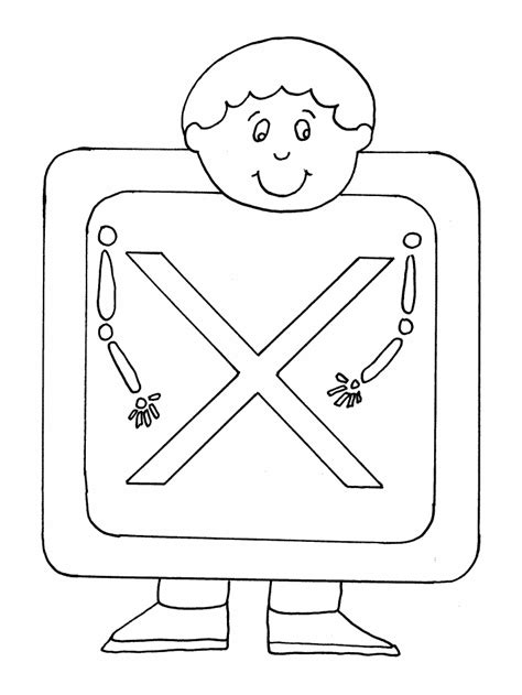 X Coloring Page letter coloring pages coloring town