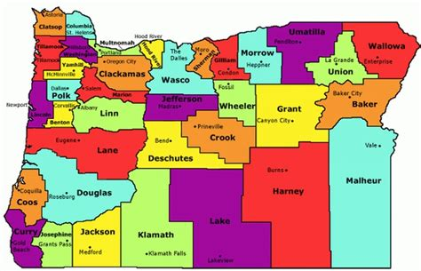 oregon connecticut and united states map on pinterest oregon state county map http myers salkeiz k12 or us