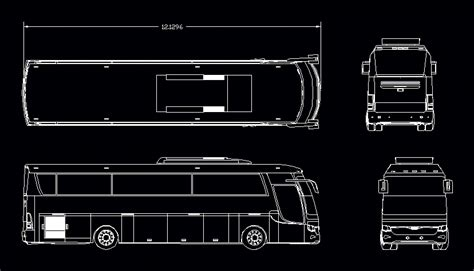 tourist bus dwg plan  autocad designs cad