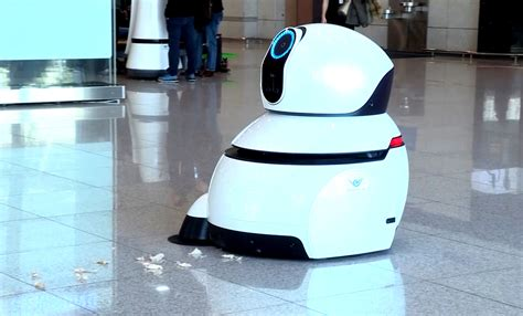 cleaning robot lg airport robots take over korea s largest airport lg