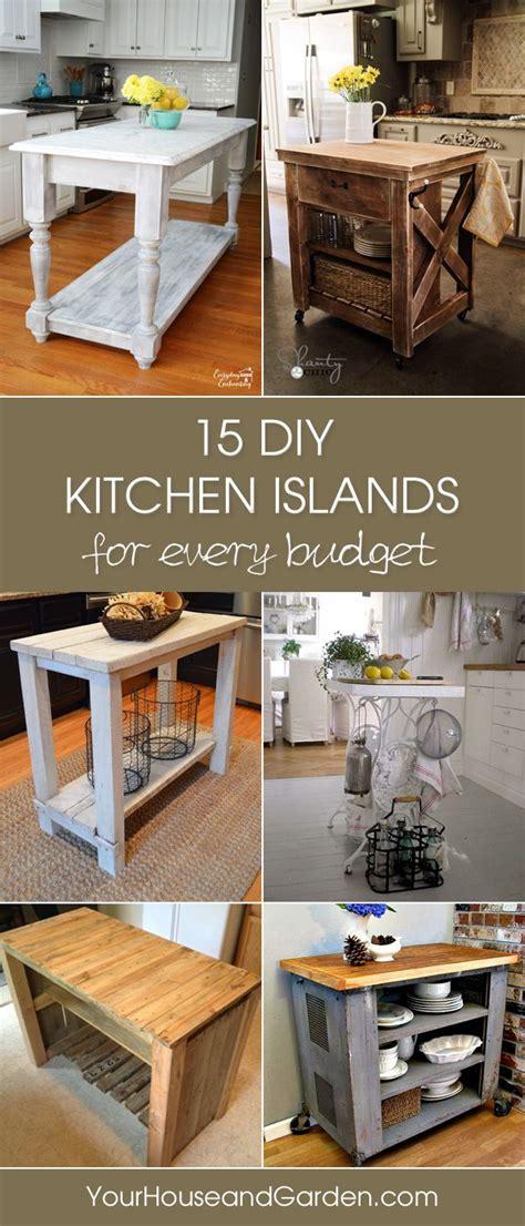 gorgeous diy kitchen islands   budget random