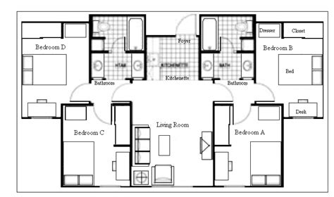 college dorm floor plans dorm suite house plans multi family pinterest dorm