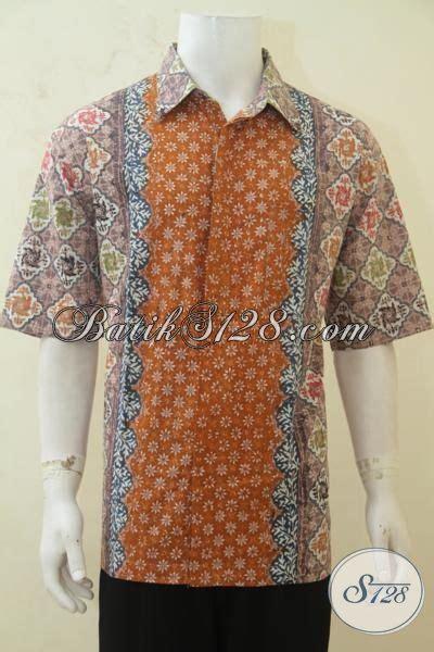 baju batik khusus pria gemuk hem batik lengan pendek
