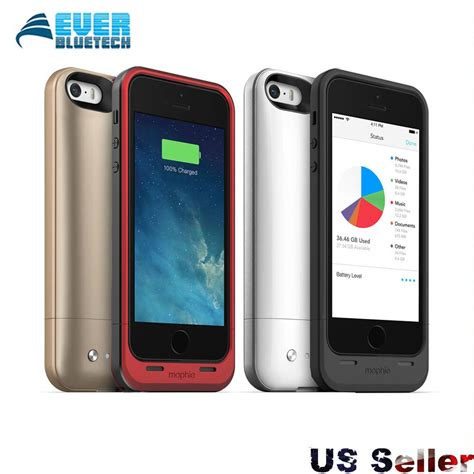 5 iphone 64gb mophie space pack for iphone se 5s 5 battery with 16 32 64gb memory 1700mah ebay