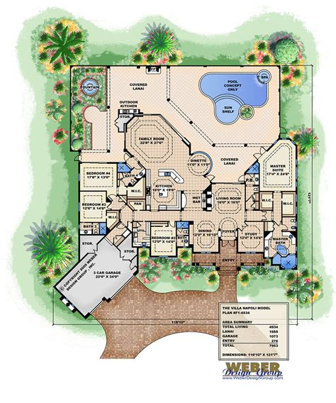 ambergris cay house plan weber design inc