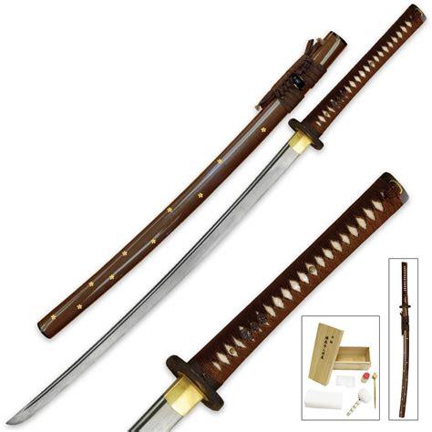 steel katana ryumon folded damascus steel katana kennesaw cutlery