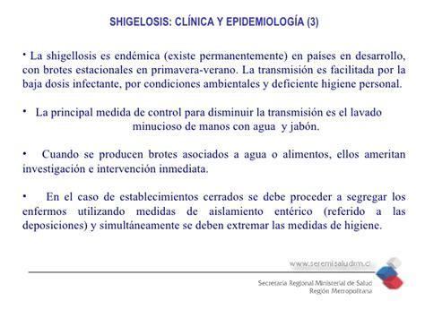 cadena epidemiologica shigelosis prevenir la shigella 2009