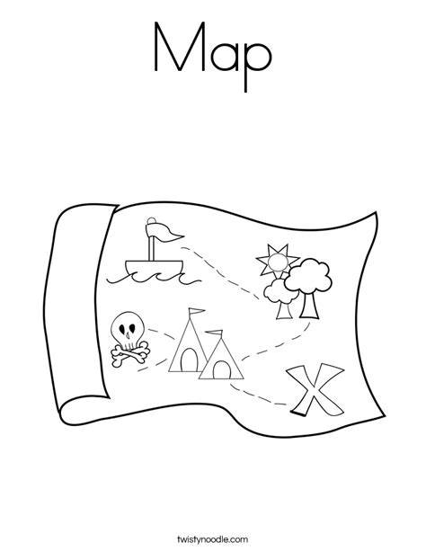 Map Coloring Page Twisty Noodle Map Coloring Pages