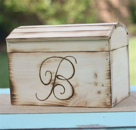 card box for wedding rustic wedding card box personalized item e10155 by
