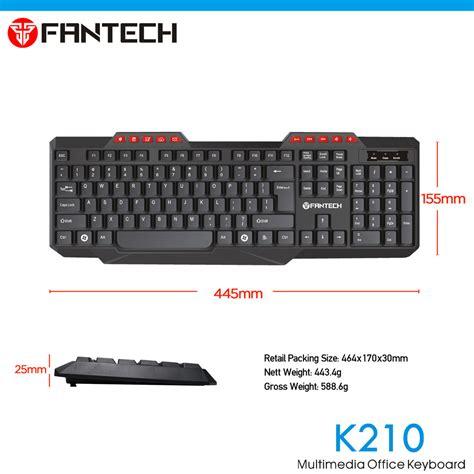 Keyboard Fantech fantech k210 114 key wired usb 2 0 pc office keyboard for pc apple mac laptop 11street