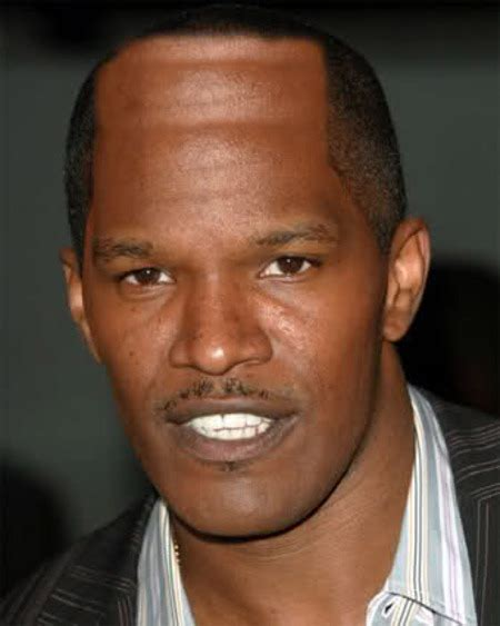 american actors with receding hairline jamie foxx denies having hairline transplant surgery