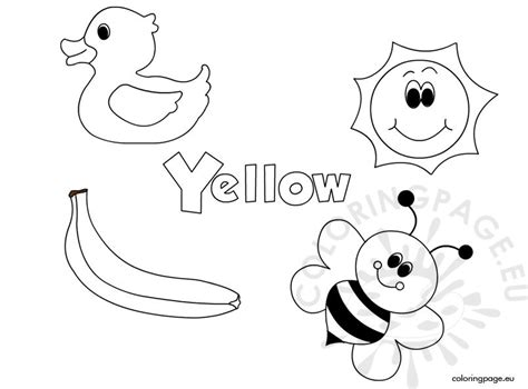 yellow coloring pages for toddlers the color yellow coloring page