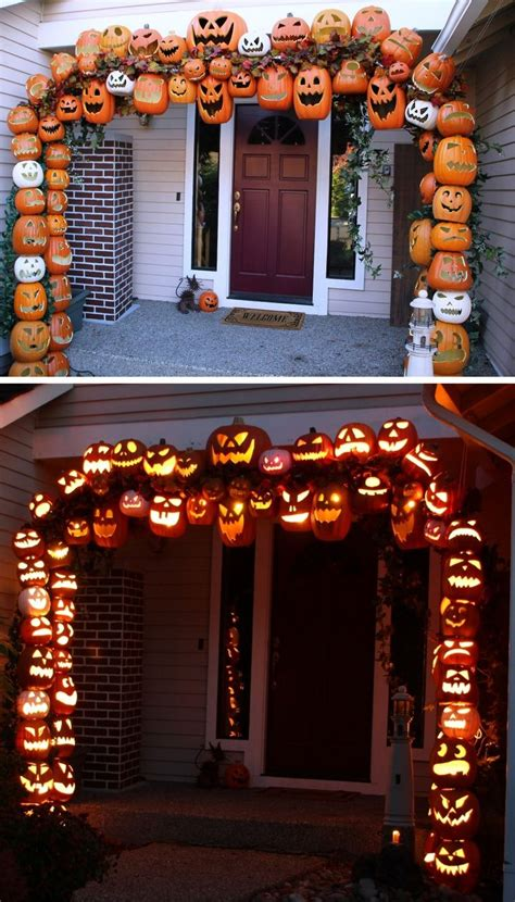 diy halloween home decor 50 best diy halloween outdoor decorations for 2018