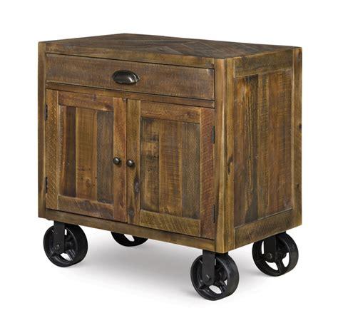 Nightstand With Wheels by River Ridge Wood Door Nightstand With Casters Bana Home